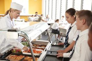 children receiving school meals
