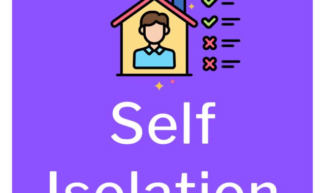 self isolation advice